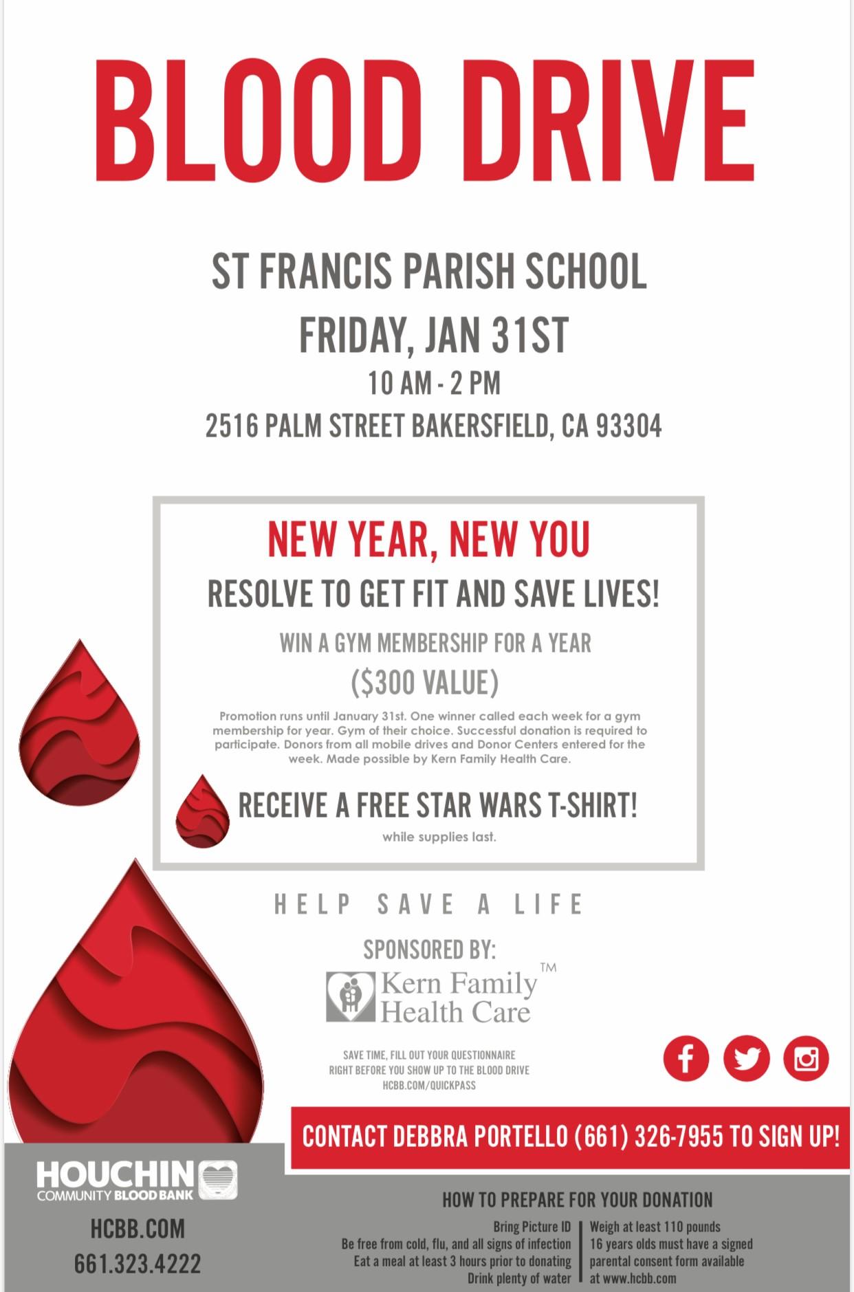 St. Francis School Blood Drive @ St. Francis School